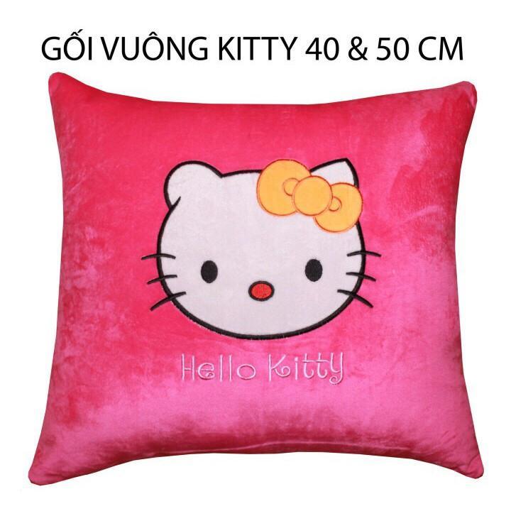 Review Gối vuông Mèo Kitty GVLT66