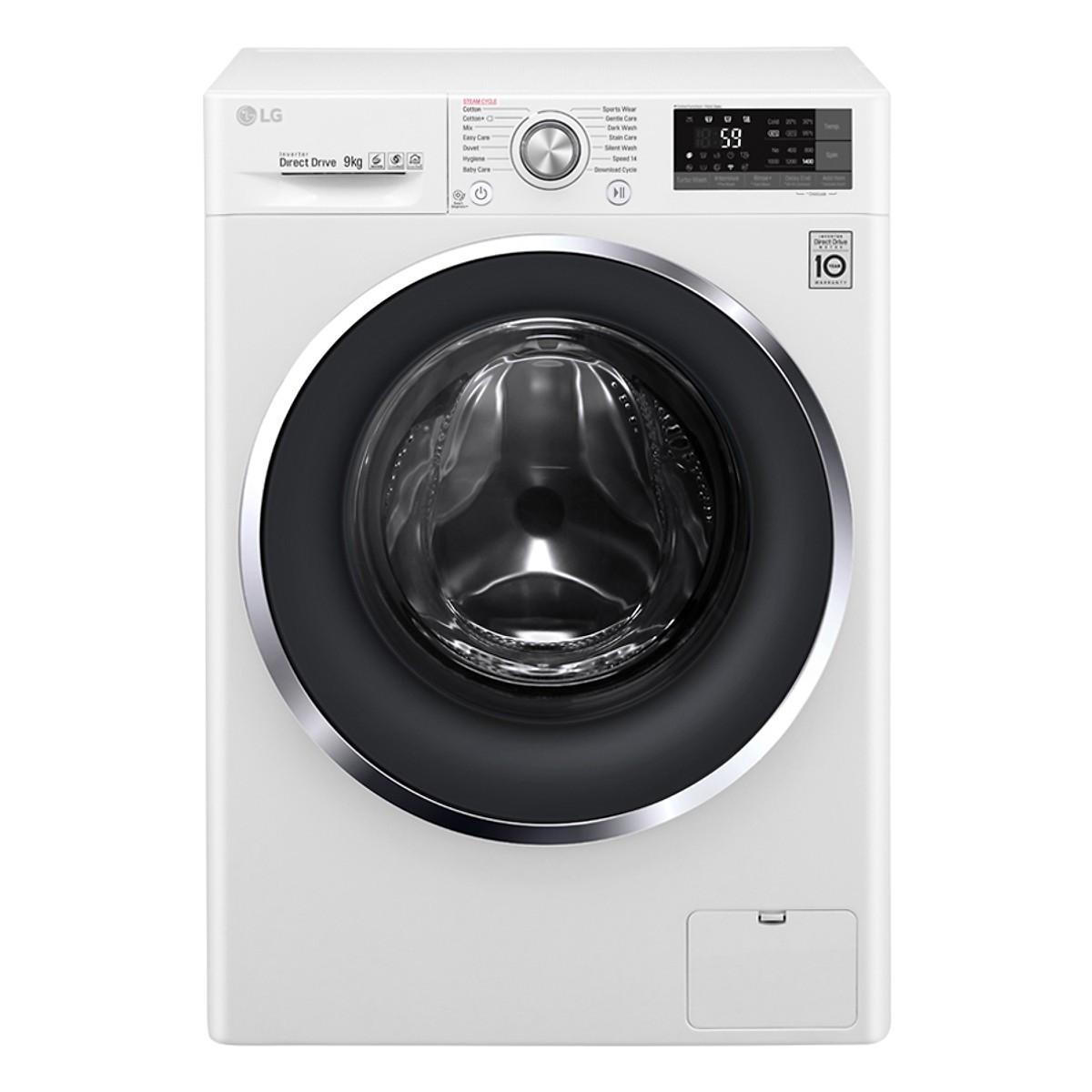 Review Máy giặt lồng ngang LG FC1409S3W, 9kg