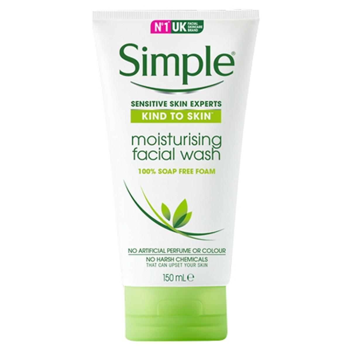 Sữa rửa mặt Simple Kind To Skin Moisturising Facial Wash