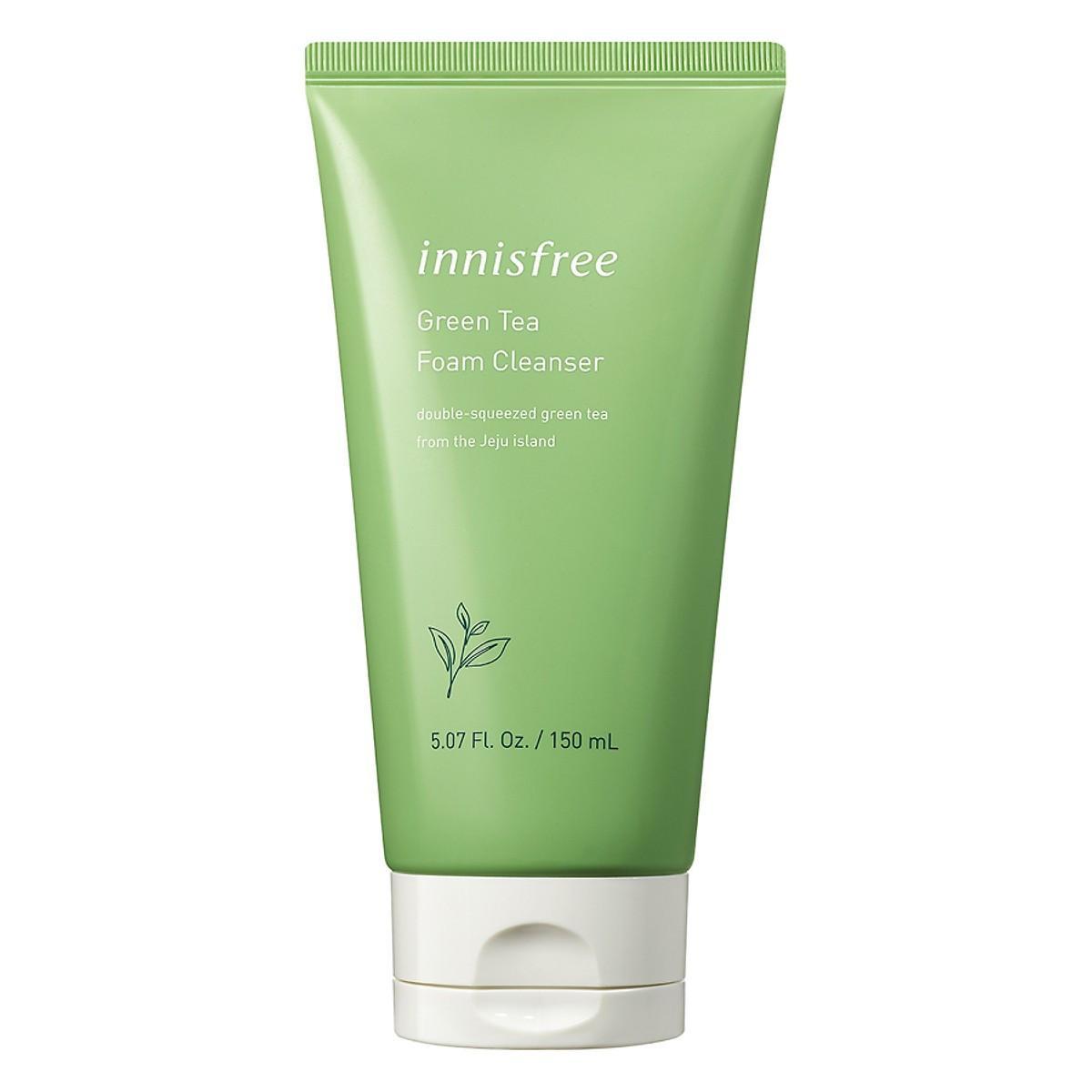 Review Sữa rửa mặt làm sạch từ trà xanh Innisfree Green Tea Foam Cleanser 150ml