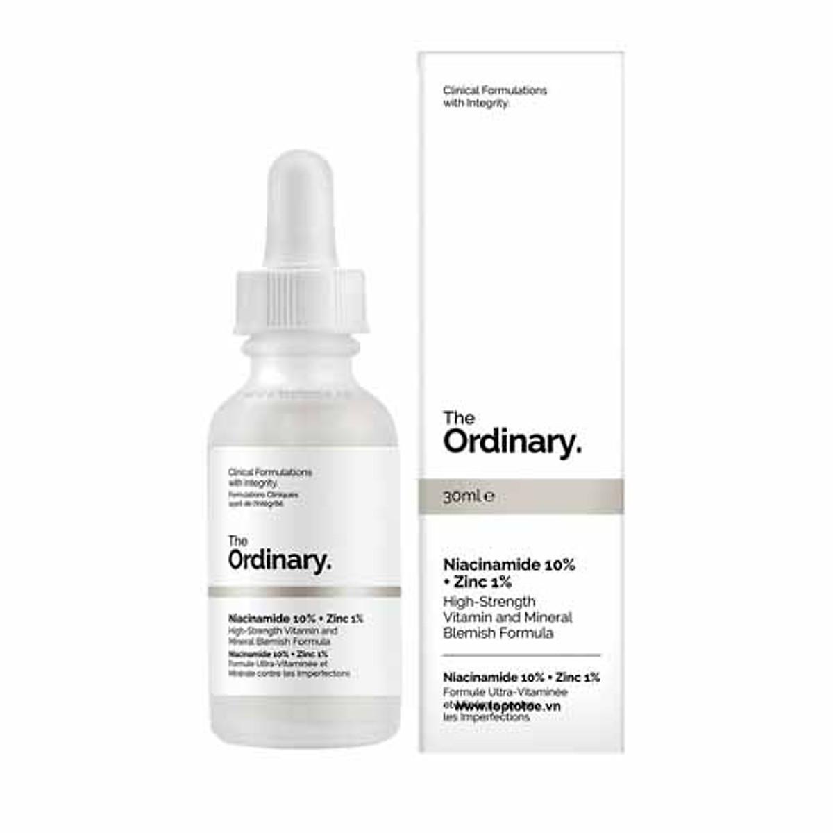 Đánh giá, review Tinh Chất Serum The Ordinary Niacinamide 10% + Zinc 1% 30ml