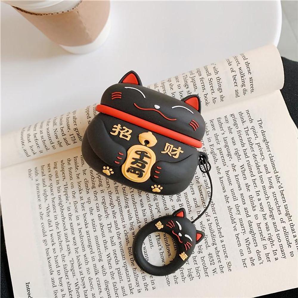Đánh giá Airpods Pro Case Ốp Bảo Vệ Cho Airpods Pro Mèo May Mắn Lucky _Tặng Kèm Móc Khóa Mèo COn Ngồi Hộp
