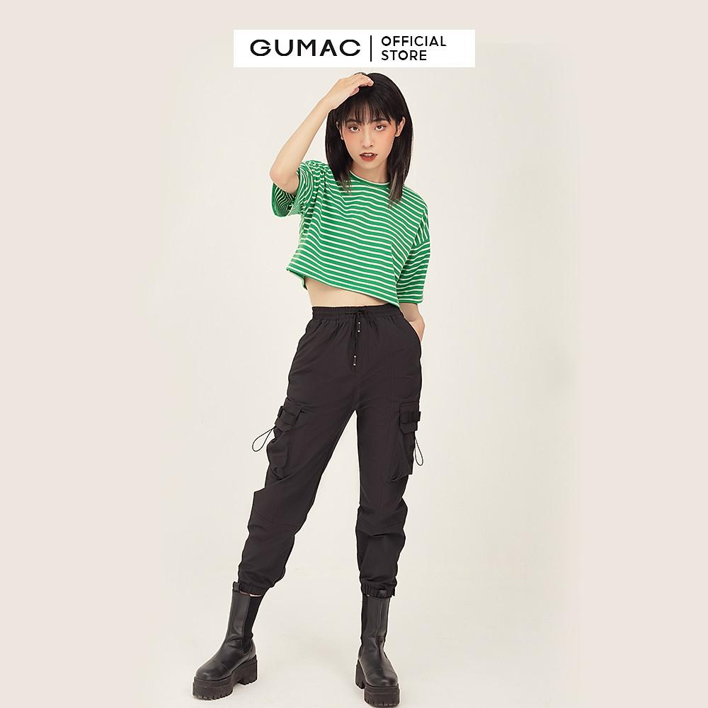 Đánh giá Áo croptop nữ sọc ngang GUMAC phong cách unisex năng động ATB343