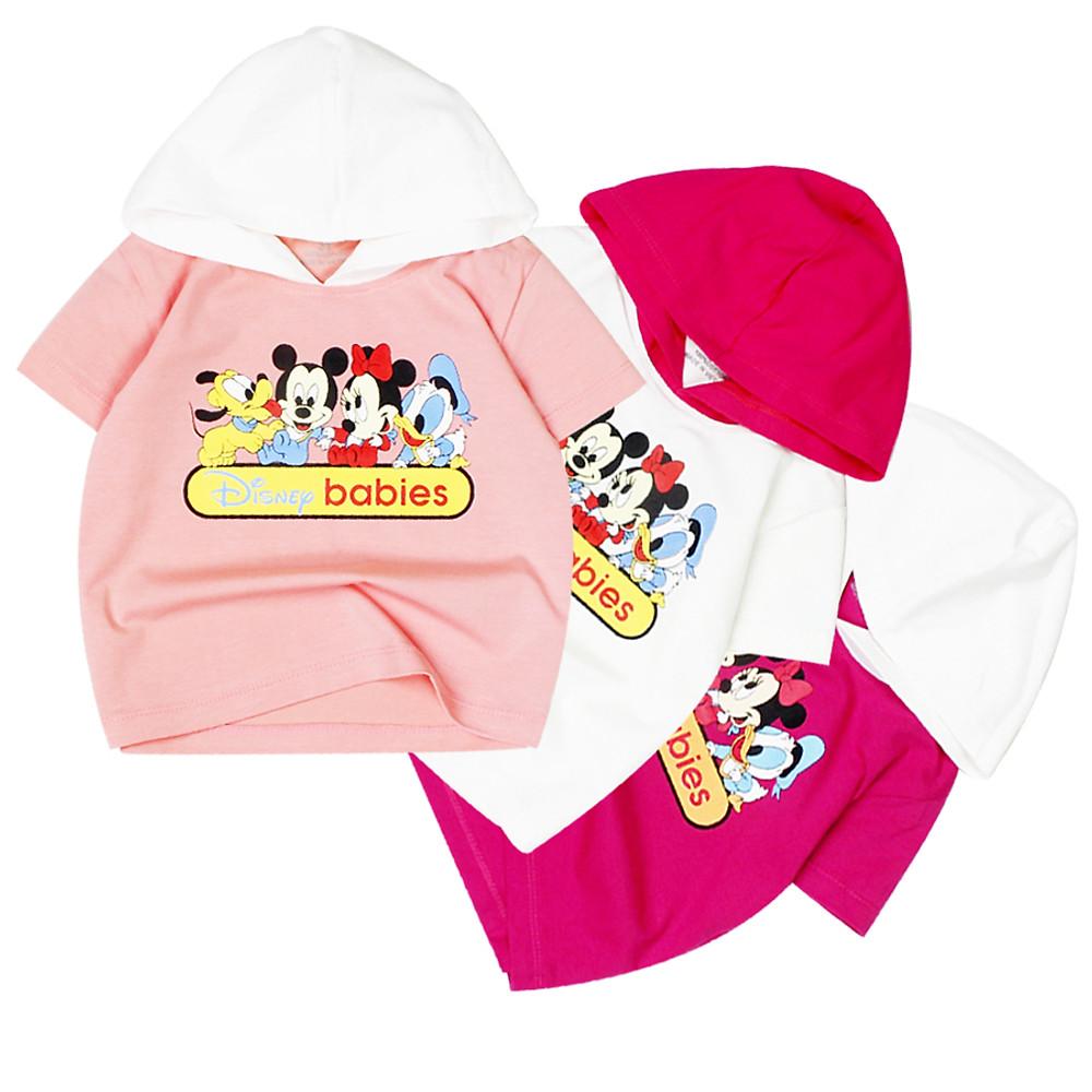 Áo thun nón in chuột Mickey và vịt Donald cho bé gái từ 8 kg đến 22 kg từ 1 tuổi đến 7 tuổi 06920-06922