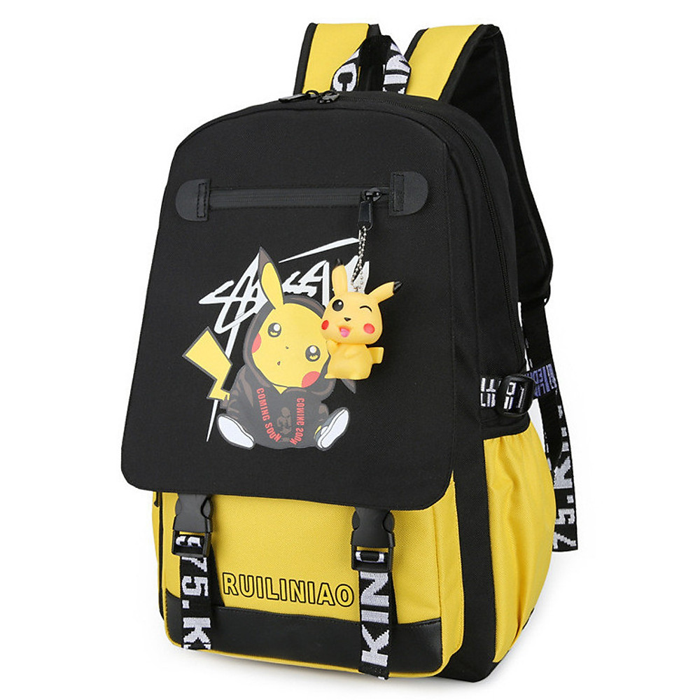 Đánh giá Balo nam nữ đi học thời trang Ohazo! Hình Pikachu siêu Cute - Sẵn cáp USB tiện lợi & Tặng kèm móc khóa Pikachu - BL140