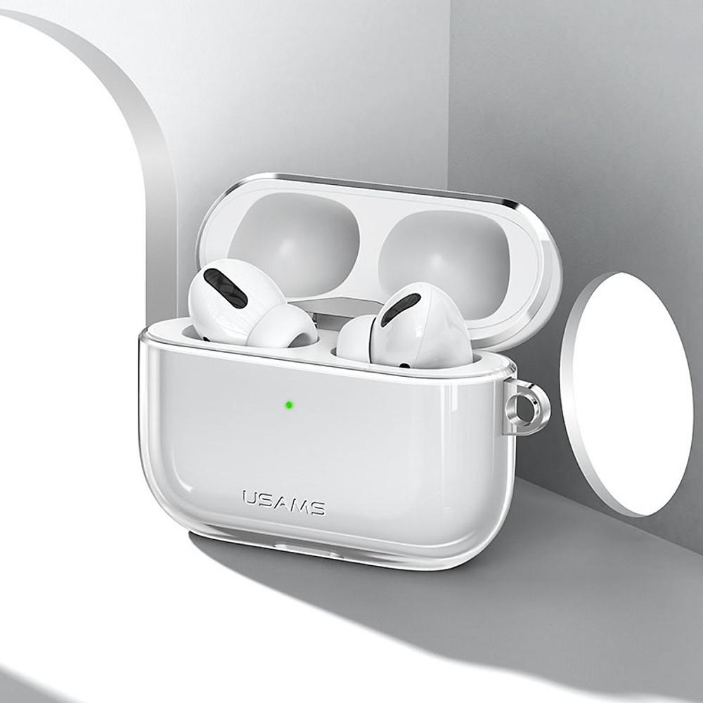Bao case silicon trong suốtchống sốcsiêu mỏng cho tai nghe Apple Airpods Pro hiệu Usams US-BH570 (Mỏng 1
