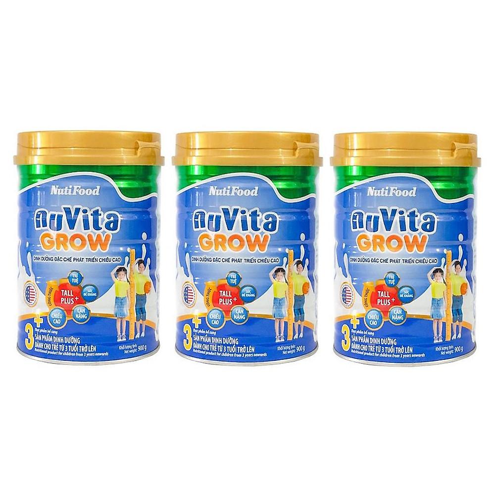 Đánh giá Bộ 3 Lon Sữa Bột NutiFood Nuvita Grow 3+ (900g)