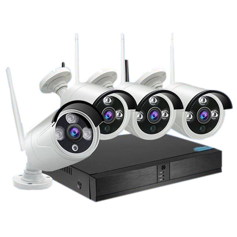 So Sánh Giá Bộ 4 Camera WIFI 720P 3 LED + Đầu Ghi NVR HD + Tặng Ổ Cứng Lưu Trữ 500GB - Hàng Nhập Khẩu