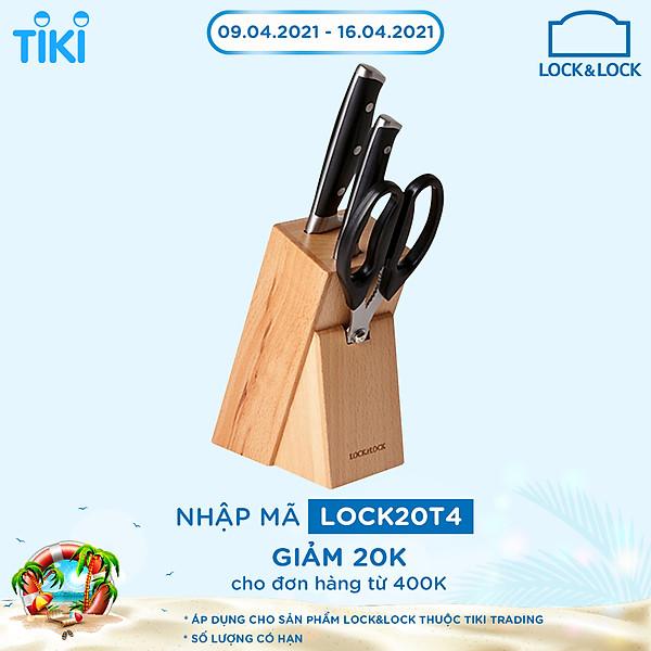 So Sánh Giá Bộ Dao Nhà Bếp 4 Món Lock&Lock CKK401