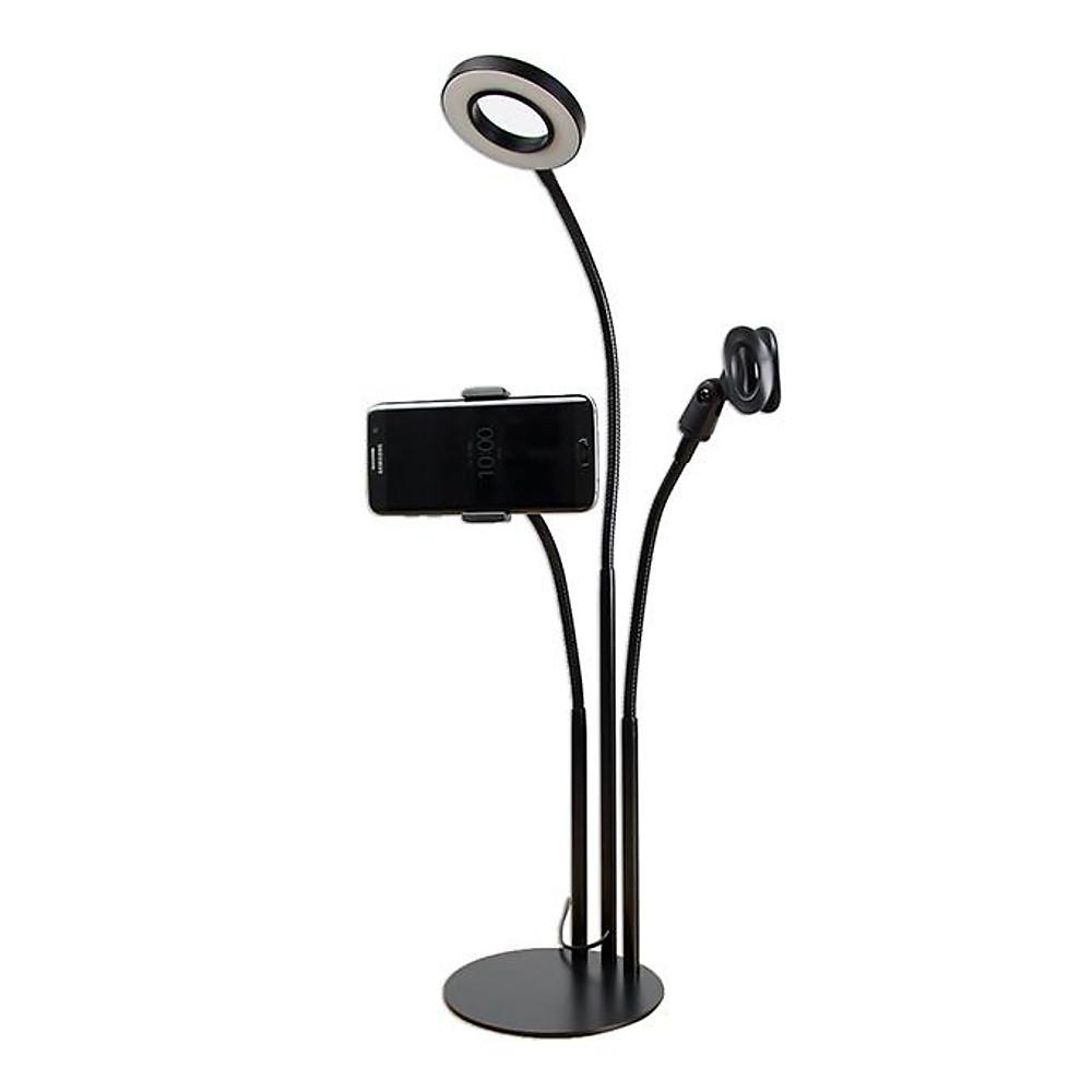 Đánh giá Bộ dụng cụ Livestream có đèn Led, chân đế kẹp Mic cao cấp
