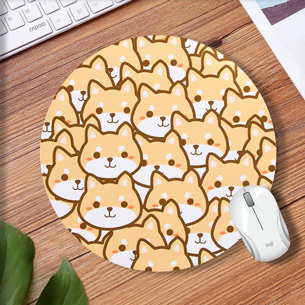Đánh giá Bộ sưu tập Miếng lót chuột mousedpad cao su siêu nhạy họa tiết dễ thương (Hình tròn 20cm)