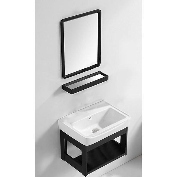 So Sánh Giá Bộ Tủ Chậu Lavabo Mini - COMBO 4 Món Tủ Chậu Lavabo + Gương + Kệ Gương Thông Minh Gọn Gàng Sang Trọng Cho Phòng Tắm
