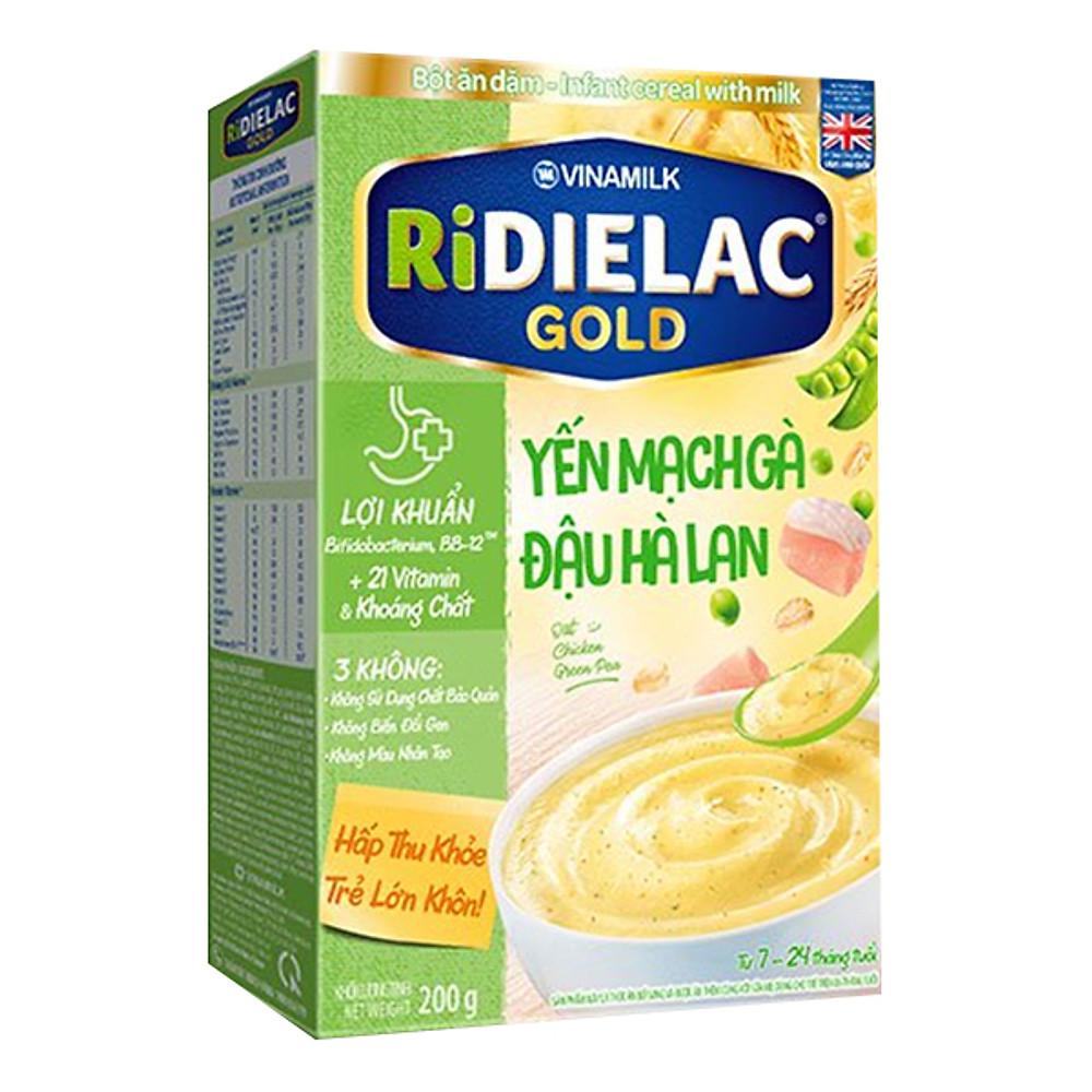 Đánh giá Bột Ăn Dặm Vinamilk Ridielac Gold Yến Mạch Gà Đậu Hà Lan (200g)