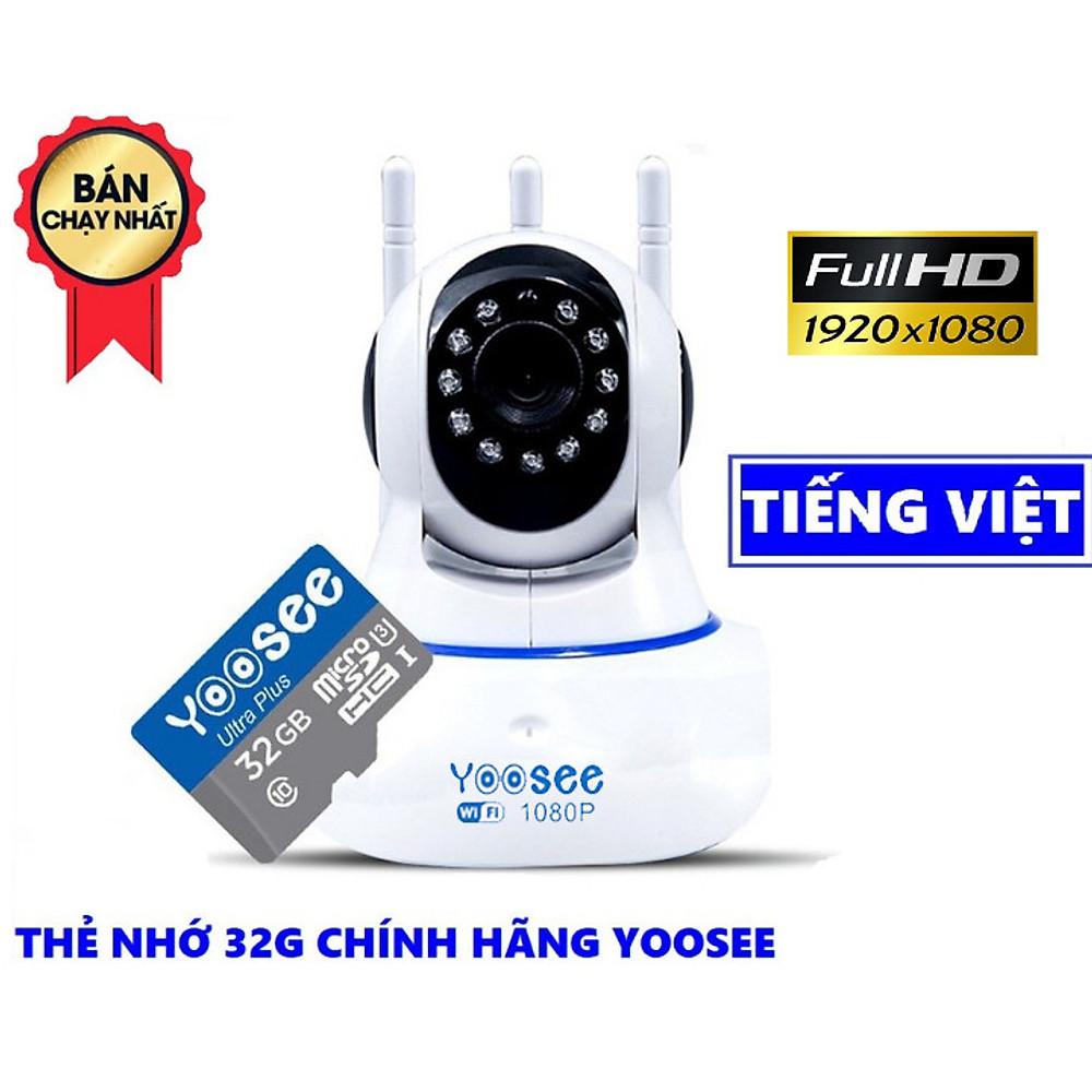 Review Camera wifi Yoosee 3 Râu xoay 360 trong nhà FullHD 1080 - Hàng Chính Hãng