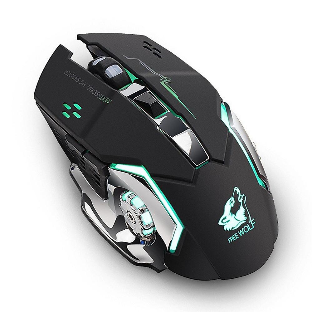 Đánh giá Chuột không dây chuyên game pin sạc Free Wolf X8 - Đen - Hàng Nhập Khẩu
