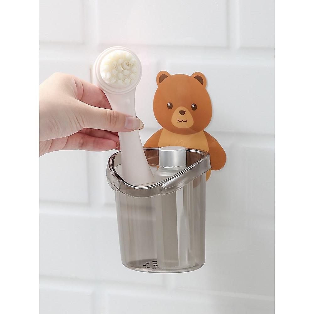 Review Cốc gấu đựng bàn chải kem đánh răng Cốc gấu dán tường siêu dính