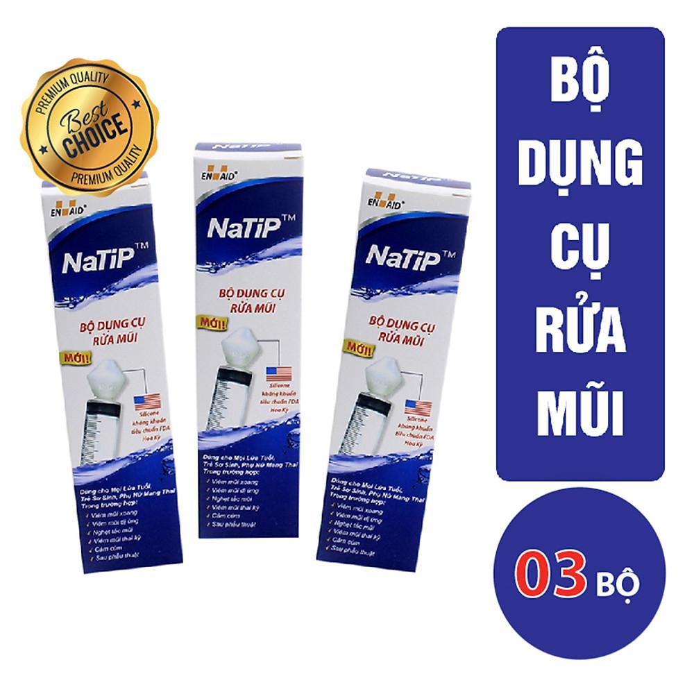 Review Combo 03 Bộ Dụng Cụ Rửa Mũi NaTiP (Trắng)