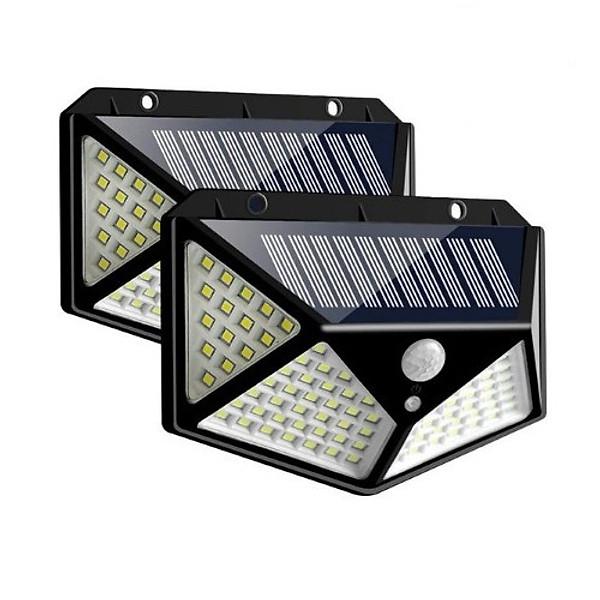 So Sánh Giá Combo 2 đèn Năng Lượng Mặt Trời Cảm Biến Chuyển động 100 Bóng LED, (đèn Chống Nước, 3 Chế độ Sáng, Dùng Chiếu Sáng Sân Vườn, Lối đi Ngoài Trời...)