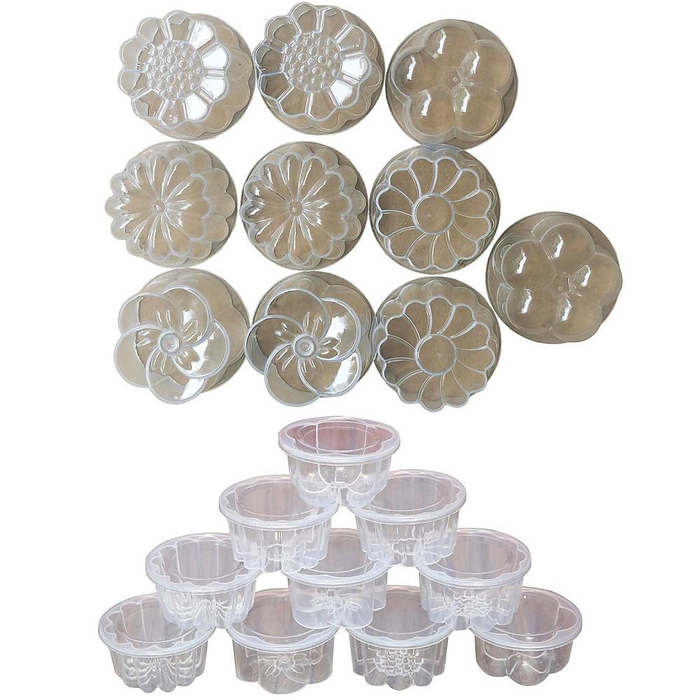 Đánh giá Combo 20 Khuôn Làm Rau Câu Bánh Flan 6,5cm Có Nắp Đậy Hình Hoa Đẹp Mắt