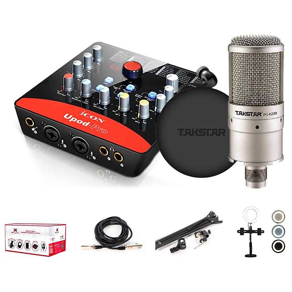 Đánh giá Combo thu âm, livestream souncard icon upod pro, mic PC-K200, tai nghe TS 2260 kèm đầy đủ phụ kiện - hàng chính hãng