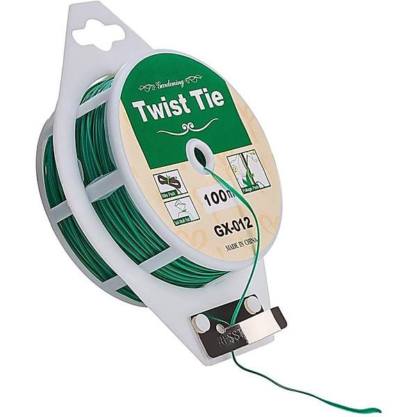So Sánh Giá Cuộn Dây Buộc đồ đa Năng Twist Tie GX-012, 100m Dây Nhựa, Lõi Kẽm Buộc Lan Dây Leo