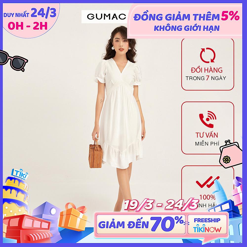 Đánh giá Đầm cổ V lai bèo GUMAC DB125