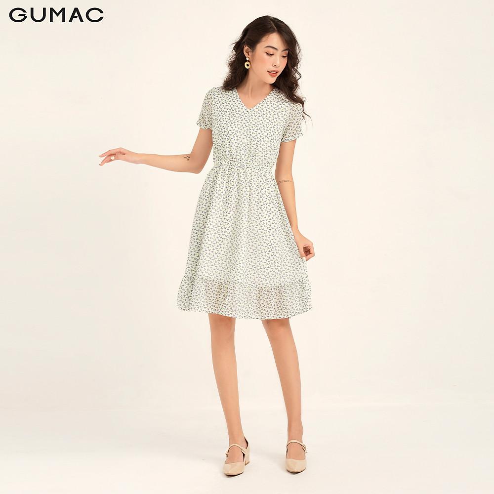 Đánh giá Đầm cổ V nhún eo GUMAC DB174
