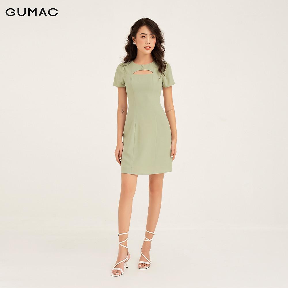Đánh giá Đầm khoét ngực 2 nút GUMAC DB185