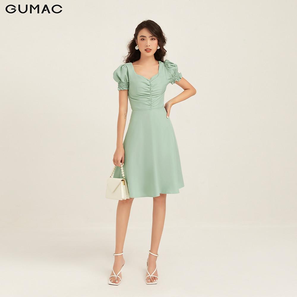 Đánh giá Đầm nhún ngực tay phồng GUMAC DB1119