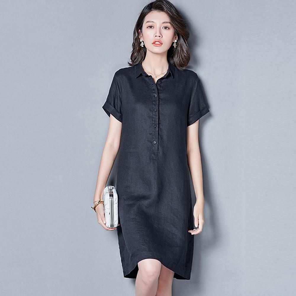 Đánh giá Đầm suông công sở cổ đức 2 túi sườn LAHstore, thời trang trẻ, phong cách Hàn