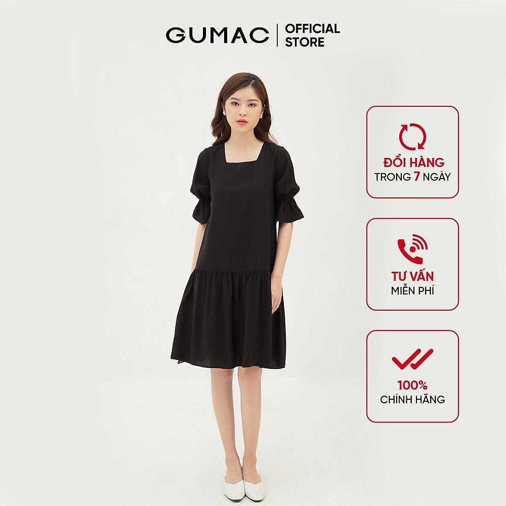 Đánh giá Đầm suông nữ thiết kế tay nhún GUMAC DB325
