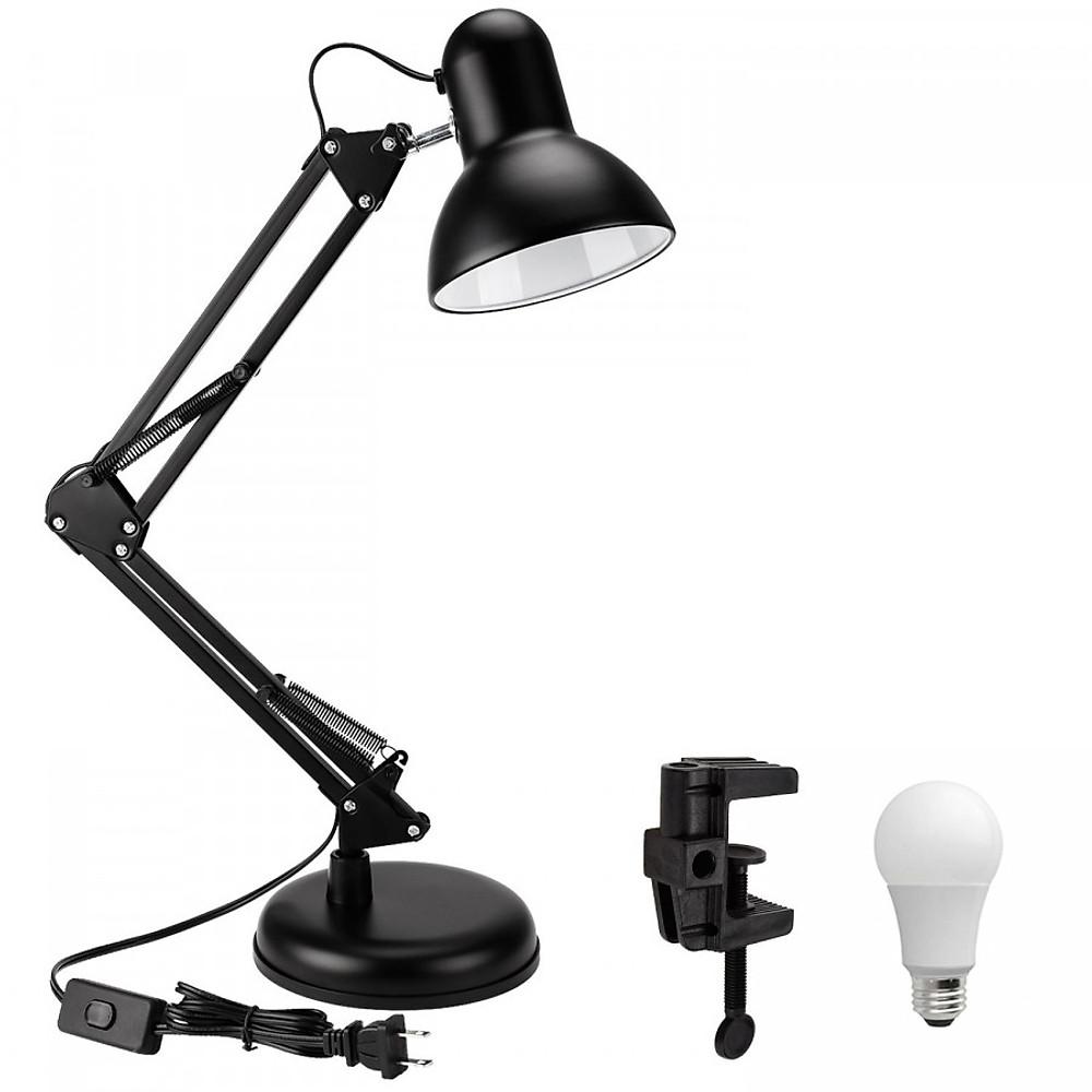 Review Đèn bàn học tập, làm việc, có chân kẹp bàn kiểu dáng Pixar + Tặng 1 bóng LED 7W vàng