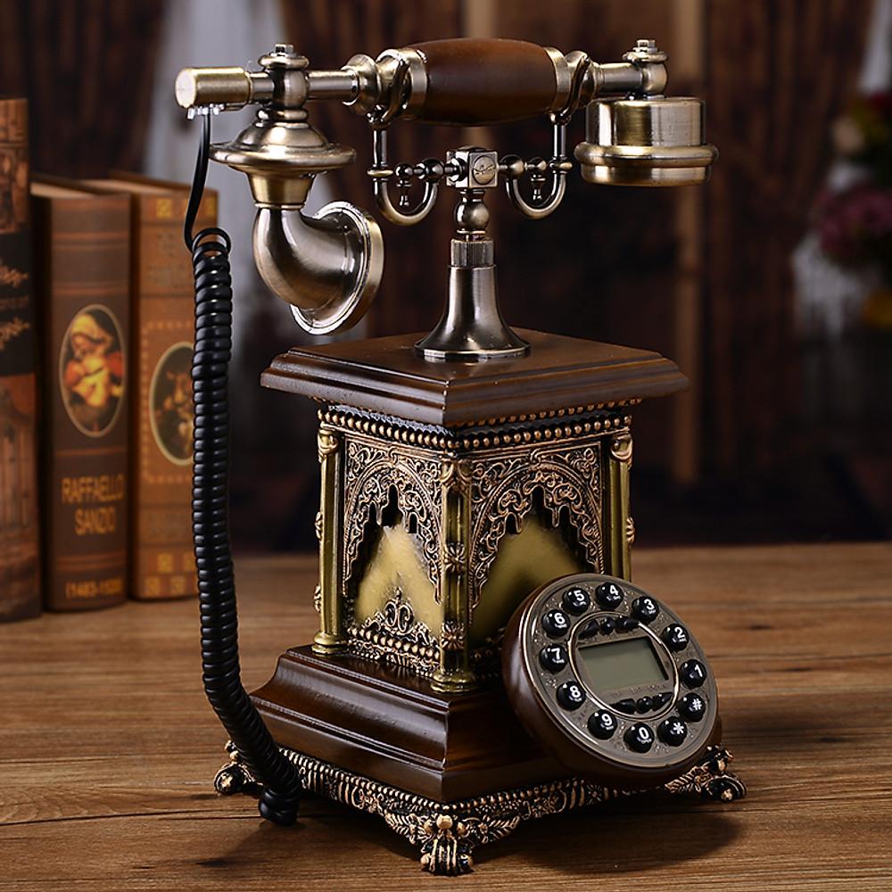 Review Điện thoại để bàn tân cổ điển phím bấm DT08