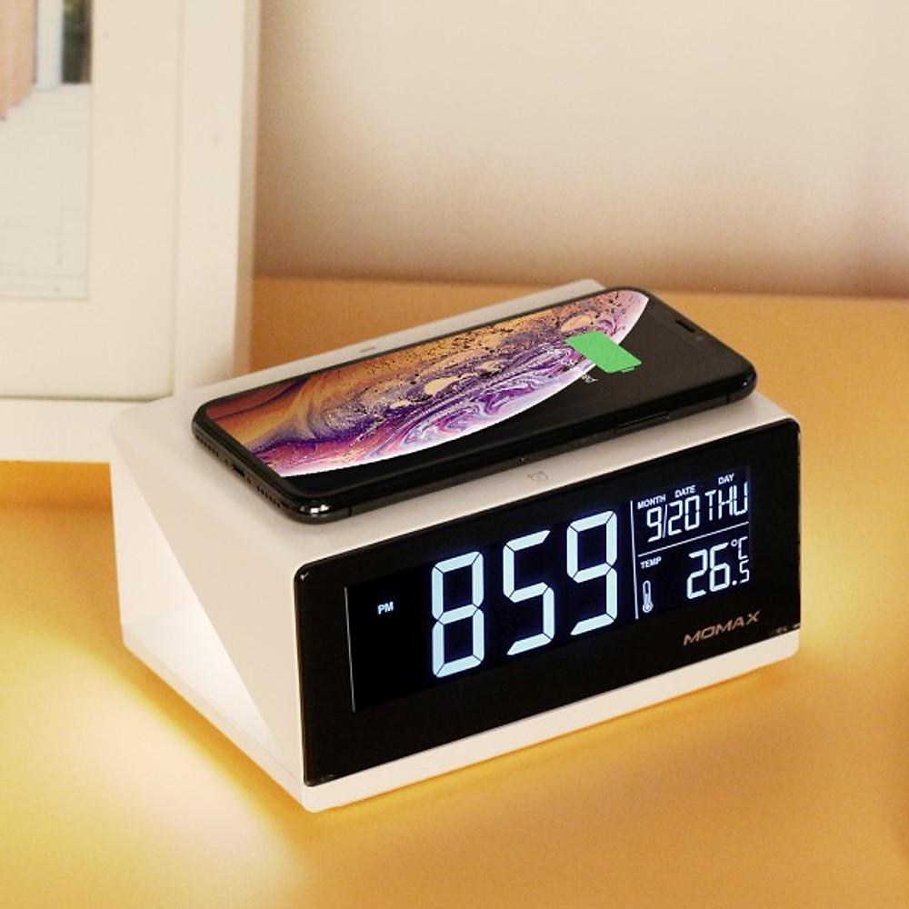 Đánh giá Đồng hồ thông minh kiêm sạc nhanh không dây 10W Momax - Hàng chính hãng
