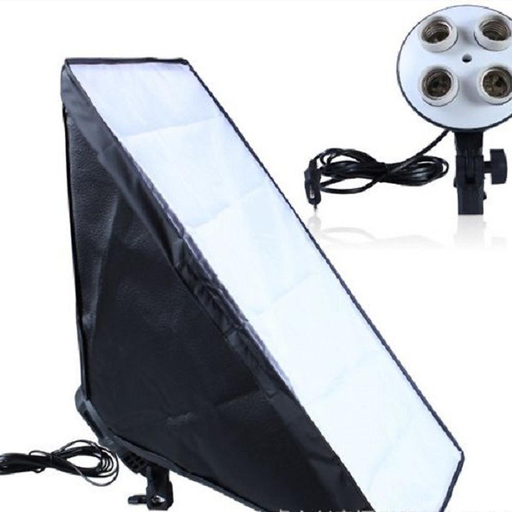 Đánh giá Đui đèn 4 bóng và Softbox 50x70cm