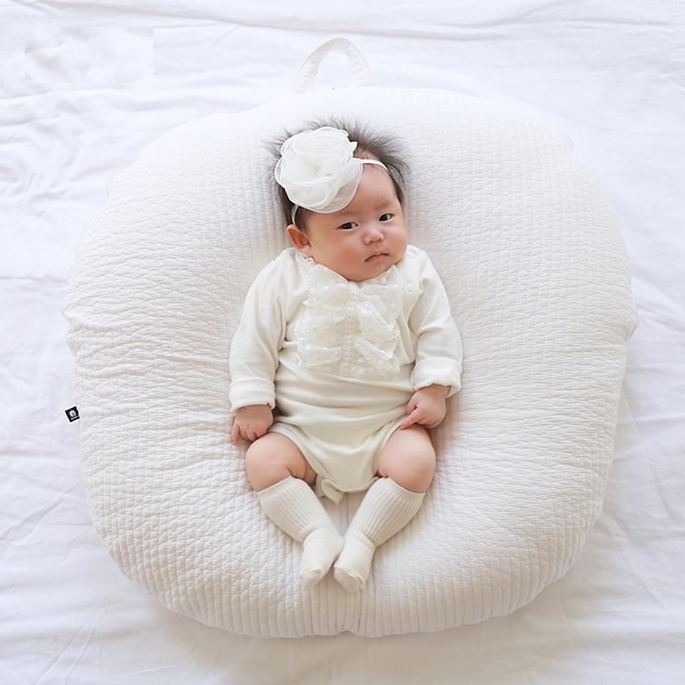 Review Gối chống trào ngược Rototo bebe chính hãng chất liệu Cotton chần bông