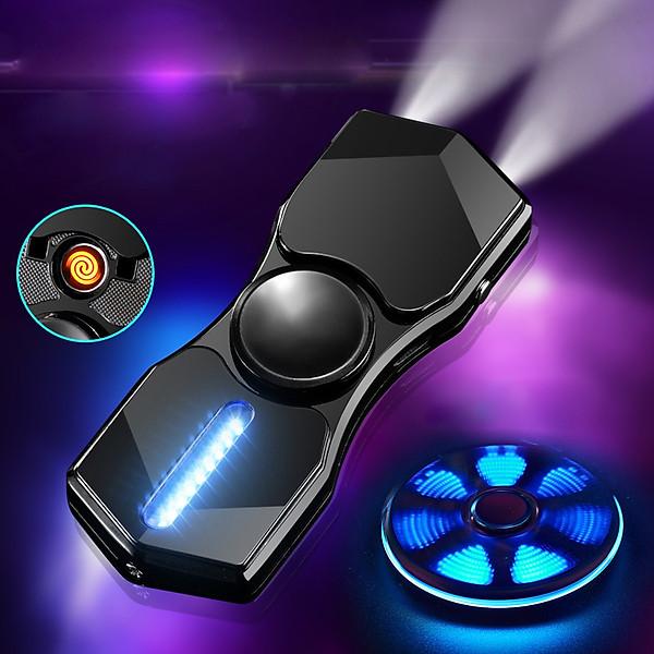 So Sánh Giá Hột Quẹt Bật Lửa Hồng Ngoại Kiêm Đèn Pin Sạc Điện USB Kiểu Dáng Spinner Tạo 12 Hiệu Ứng Đèn Led(màu Ngẫu Nhiên) - Video Review
