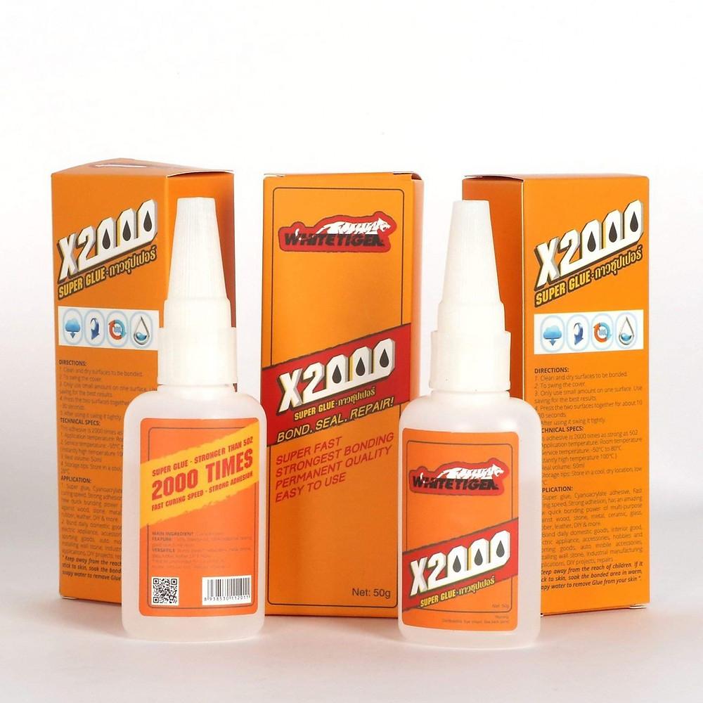 Review Keo dán X2000 siêu dính đa năng, dán tất cả vật liệu bằng gỗ, thủy tinh, dán nhựa an toàn với da tay