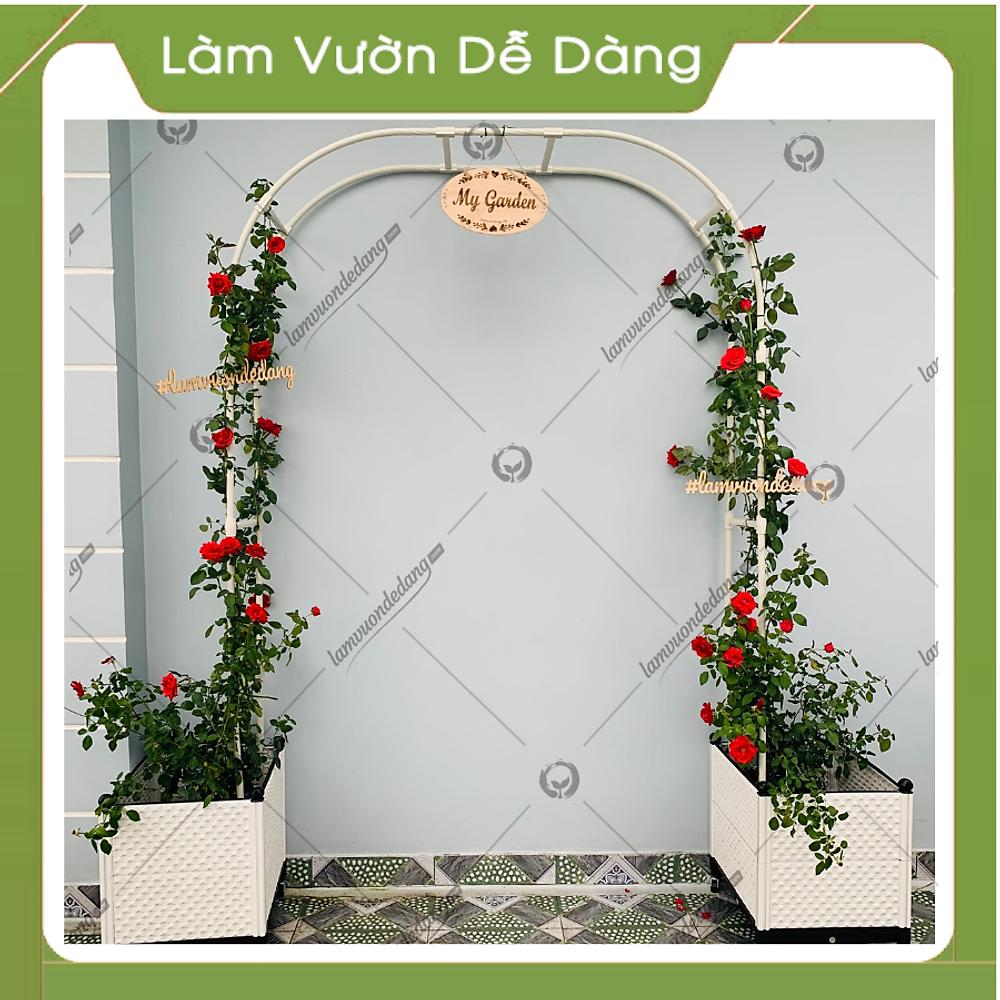 So Sánh Giá KHUNG CỔNG VÒM HOA HỒNG 2M25 - Dùng Làm Khung Giàn Leo Cho Hoa Leo, Hoa Hồng - Tạo điểm Nhấn Cho Khu Vườn