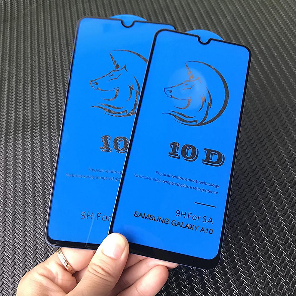 Đánh giá Kính Cường Lực 10D Cho Samsung Galaxy A10 A10S M10 Full Viền (1 miếng dán + bộ vệ sinh màn hình)