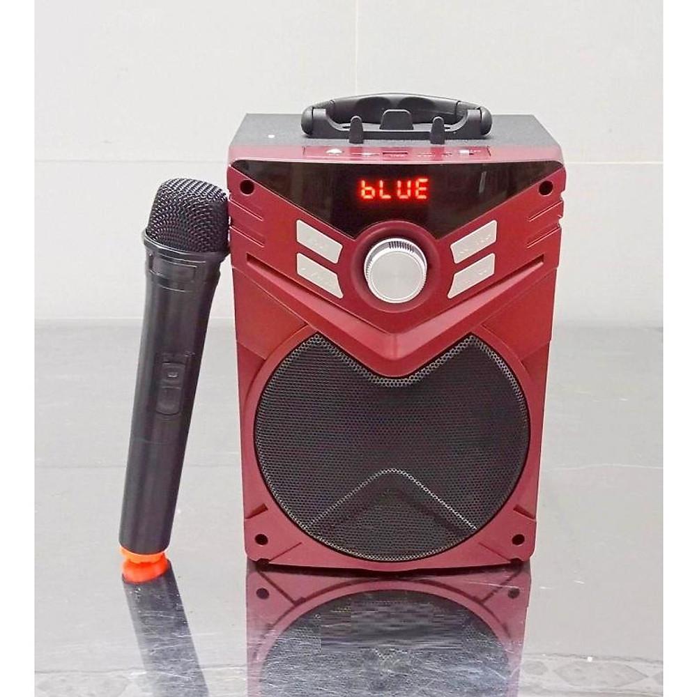 Đánh giá Loa nghe nhạc karaoke xách tay bluetooth k56 kèm 1 micro không dây (Giao màu ngẫu nhiên)