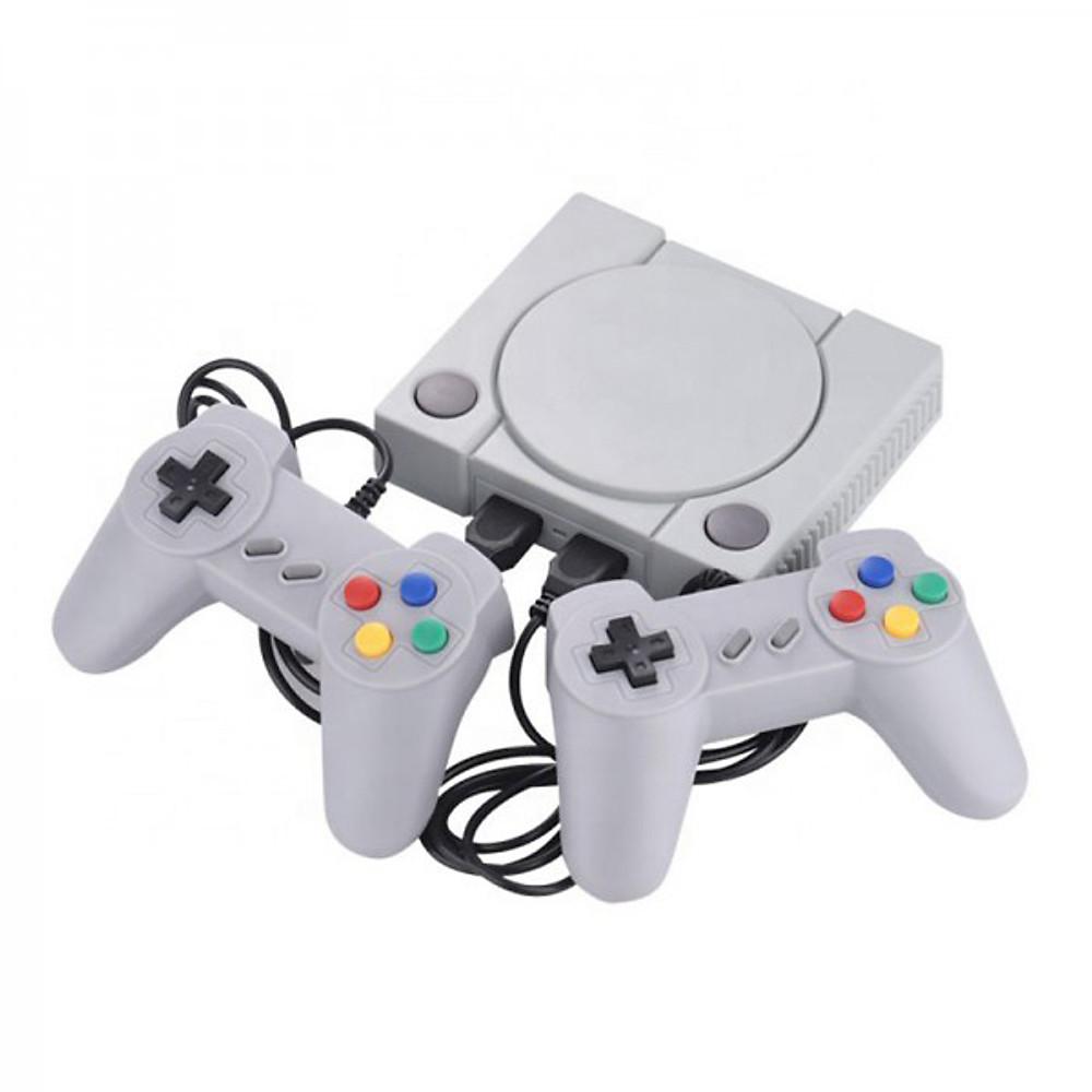 Đánh giá Máy chơi game điện tử 4 nút 648 trò 2 tay cầm gamer psp 2 người chơi có game 16 bit kết nối tivi 4K cổng kết nối HDMI (Màu xám )