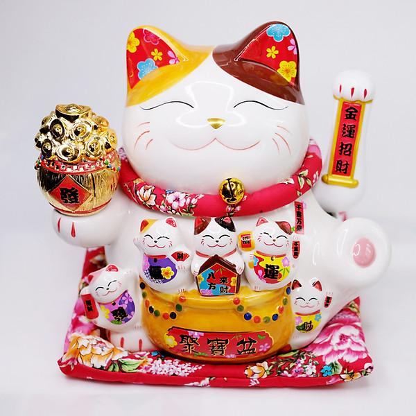So Sánh Giá Mèo Thần Tài Sứ Vẫy Tay Hũ Vàng 25cm (có Video Sản Phẩm)