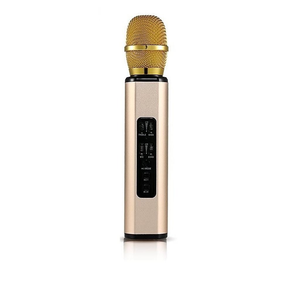 Đánh giá Micro Kèm loa karaoke Bluetooth hát karaoke bằng điện thoại cao cấp PKCB BM06 cắm thẻ nhớ có thể dùng trợ giảng 3 trong 1 Vàng ánh kim