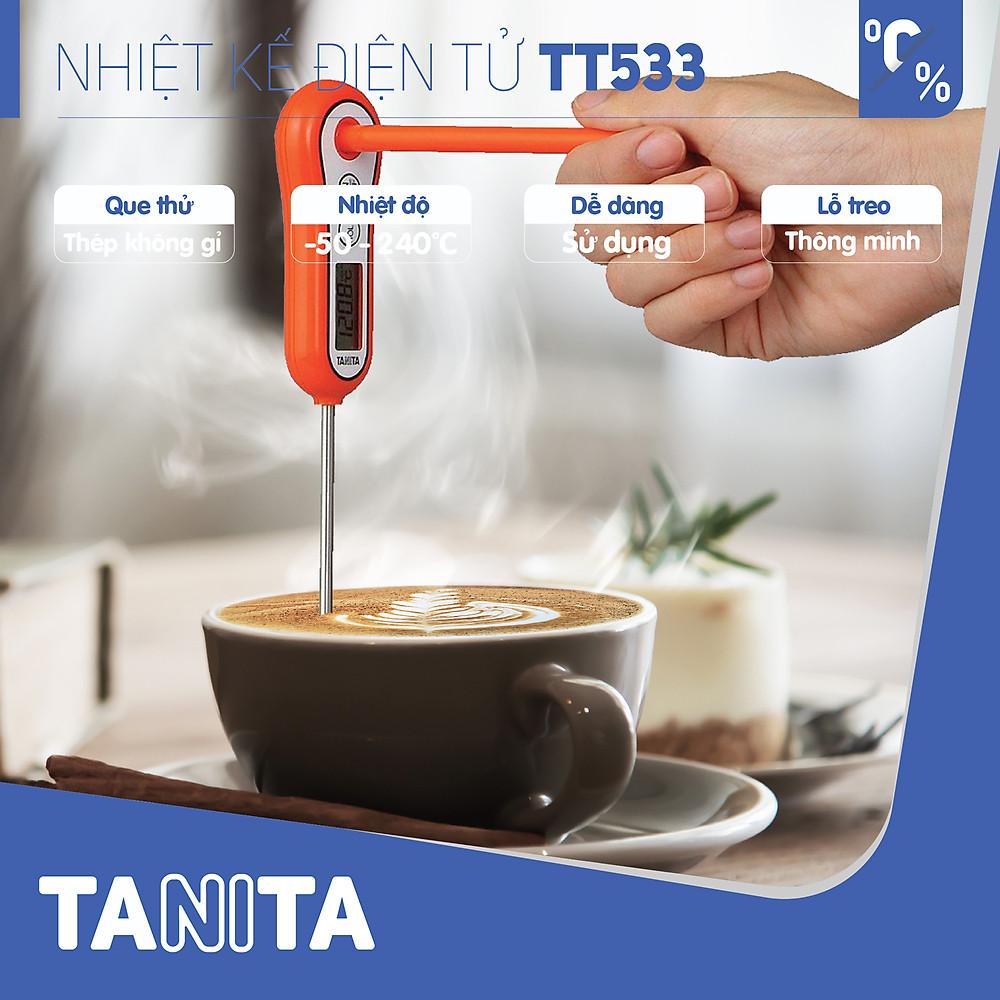 Review Nhiệt kế đo thực phẩm TANITA TT533,Nhiệt kế đo sữa,Nhiệt kế đo nhiệt độ sữa của bé,Nhiệt kế đo nước,Que đo pha sữa,Que đo cafe