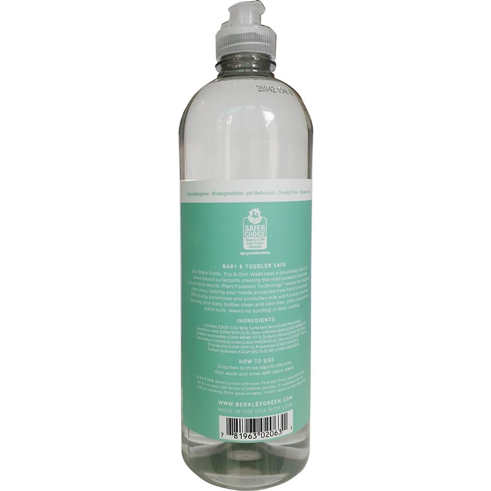 Đánh giá Nước rửa bình sữa Berkley Green 739ml
