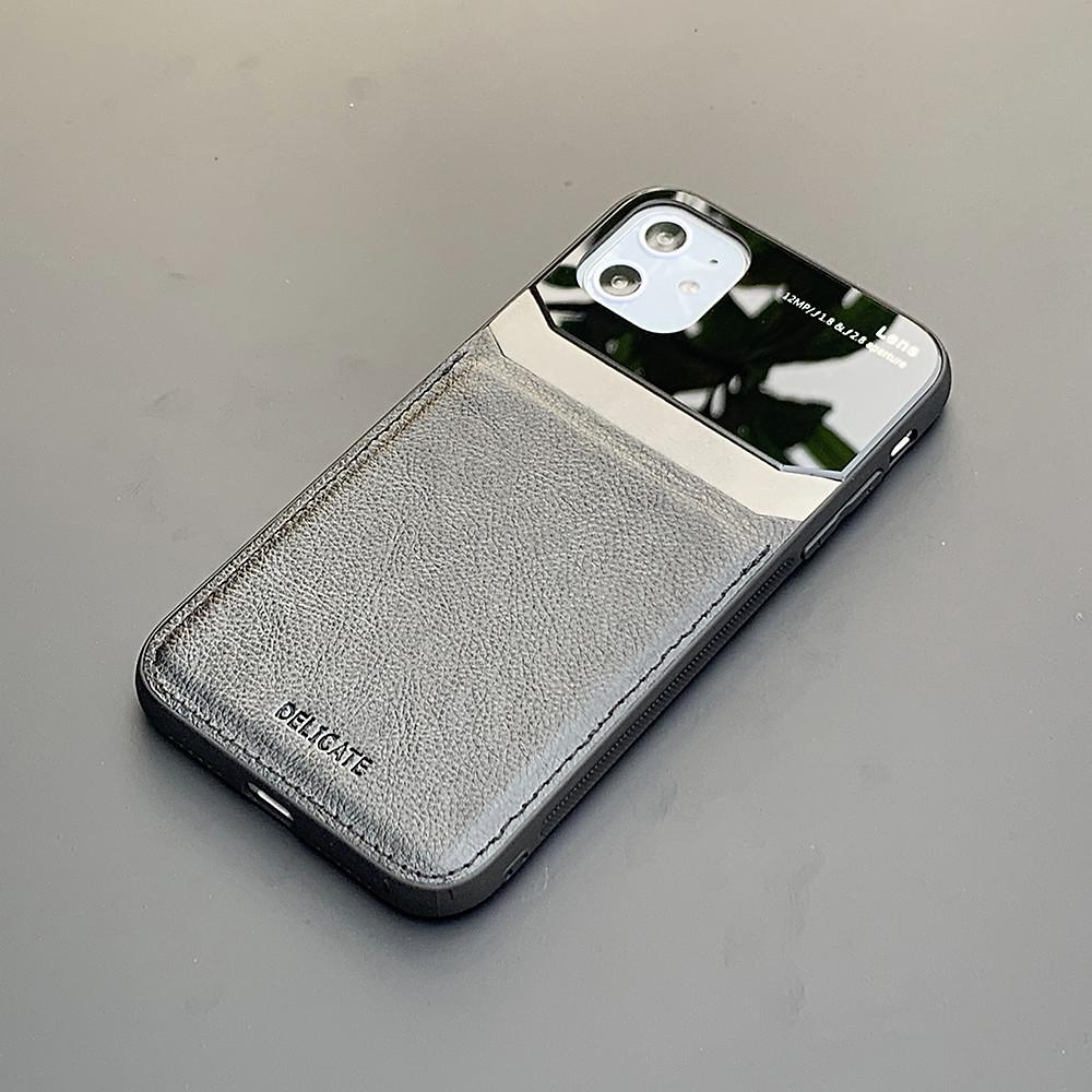 Đánh giá Ốp lưng da kính cao cấp dành cho iPhone 11 - Màu đen - Hàng nhập khẩu - DELICATE