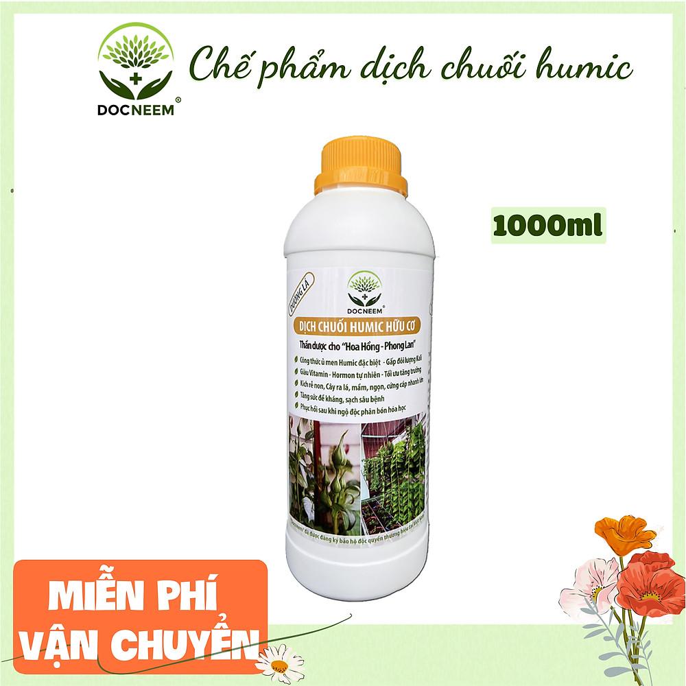 Review Phân bón hữu cơ dịch chuối DOCNEEM, phân bón cho phong lan, hoa hồng, cây cảnh kích rễ, kích kei, chồi, mầm, chai 1 lít
