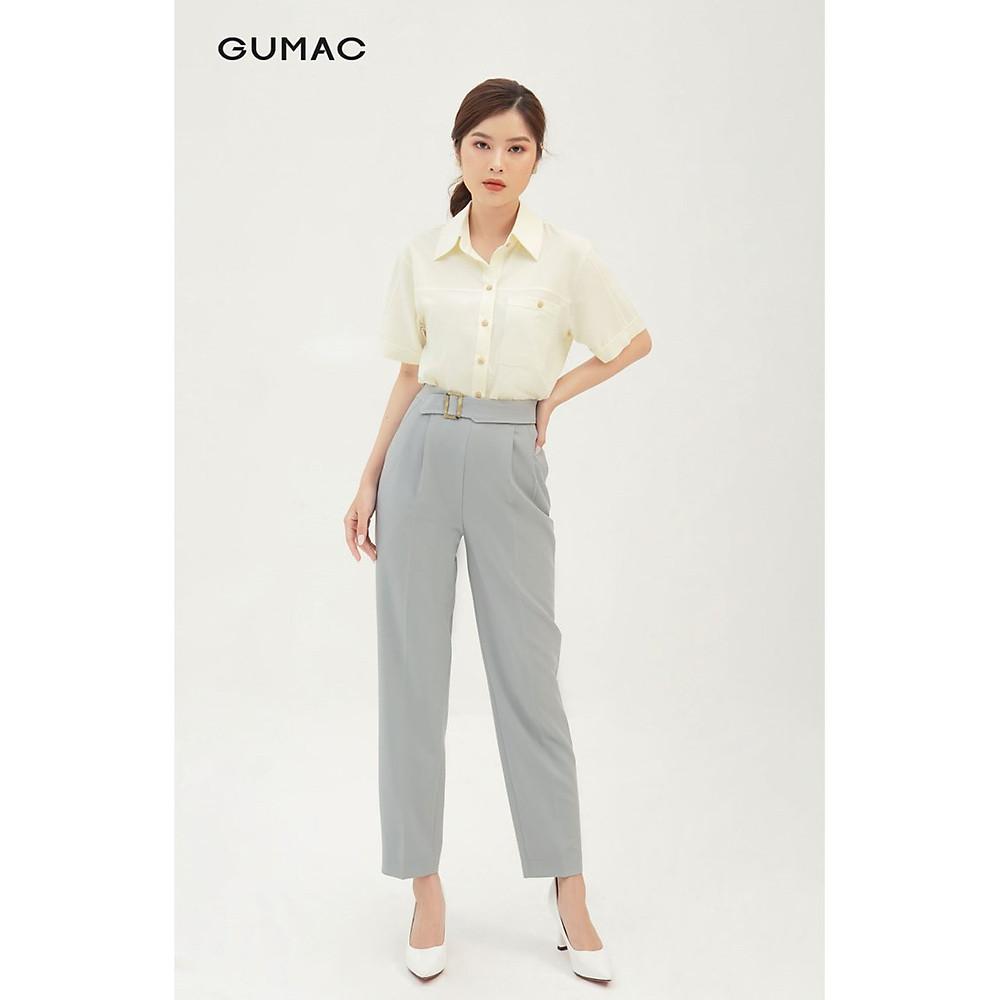 Đánh giá Quần tây nữ thiết kế basic phối khuyên GUMAC QB370