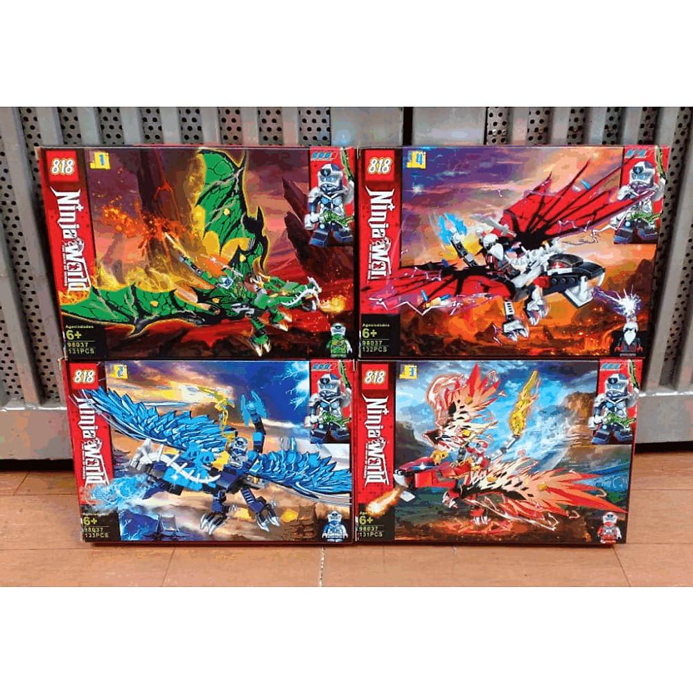 Review Set 4 Hộp Lắp Ráp Xếp Hình Mô Hình Chiến Binh Ninjago Và Siêu Cấp Rồng - Đồ Chơi Trẻ Em